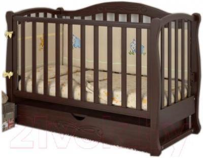 Детская кроватка Baby Dream Prestige 5 (темный орех)