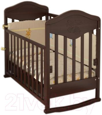 Детская кроватка Baby Dream Prestige 7 (темный орех)