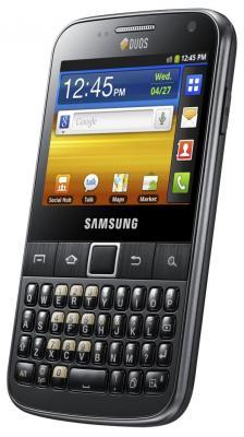 Смартфон Samsung B5512 Galaxy Y Pro Duos Black (GT-B5512 HKASER) - общий вид