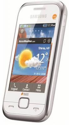Мобильный телефон Samsung C3312 Duos White (GT-C3312 UWASER) - вид сбоку