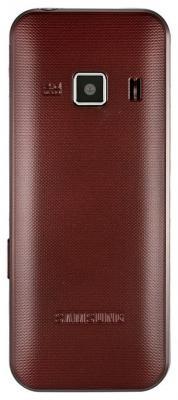 Мобильный телефон Samsung C3322 Dual (красный) - вид сзади