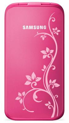 Мобильный телефон Samsung C3520 Pink with Pattern (GT-C3520 OIFSER) - вид спереди