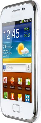 Смартфон Samsung S7500 Galaxy Ace Plus White (GT-S7500 CWASER) - вид сбоку