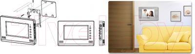 Видеодомофон Commax CDV-71AM (белый) - установка, видеодомофон CDV-70AM в интерьере