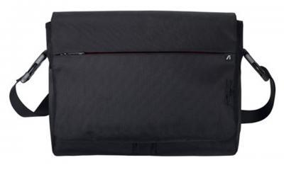 сумка для ноутбука Asus STREAMLINE Laptop Messenger Bag, Black - вид спереди