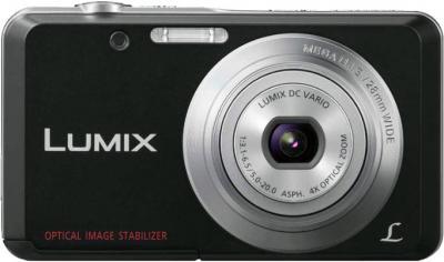 Компактный фотоаппарат Panasonic LUMIX DMC-FS28EE-K - вид спереди
