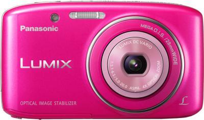 Компактный фотоаппарат Panasonic LUMIX DMC-S2EE-P - вид спереди