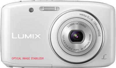 Компактный фотоаппарат Panasonic LUMIX DMC-S2EE-W - вид спереди