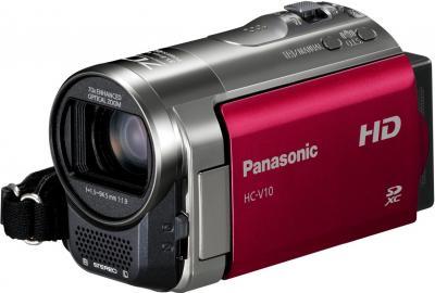 Видеокамера Panasonic HC-V10EE-R - вид спереди