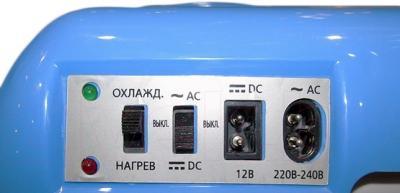 Автохолодильник Mystery MTC-241 - управление и разъемы