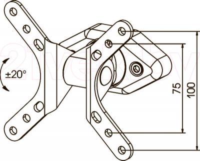 Кронштейн для телевизора Kromax Dix-1 - габаритные размеры