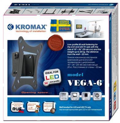 Кронштейн для телевизора Kromax Vega-6 (темно-серый) - упаковка