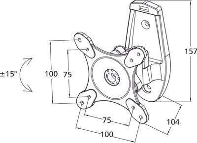 Кронштейн для телевизора Tuarex ALTA-1011 - габаритные размеры