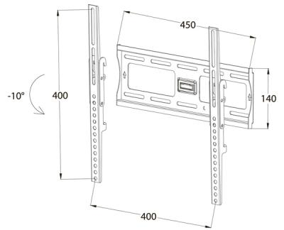 Кронштейн для телевизора Tuarex OLIMP-7004 - габаритные размеры