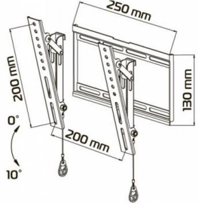 Кронштейн для телевизора Tuarex OLIMP-7018 - схематическое изображение