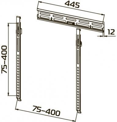 Кронштейн для телевизора Tuarex OLIMP-7023 (темно-серый) - вид спереди
