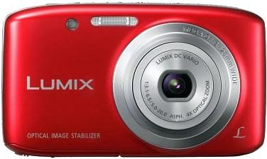 Компактный фотоаппарат Panasonic Lumix DMC-S5EE-R (Red) - вид спереди