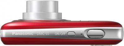Компактный фотоаппарат Panasonic Lumix DMC-S5EE-R (Red) - вид сверху
