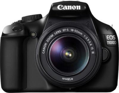 Зеркальный фотоаппарат Canon EOS 1100D Kit (18-55mm DC III) - вид спереди