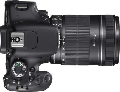 Зеркальный фотоаппарат Canon EOS 600D B Kit 18-135mm IS - вид сверху