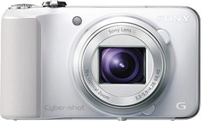 Компактный фотоаппарат Sony Cyber-shot DSC-HX10V White - вид спереди