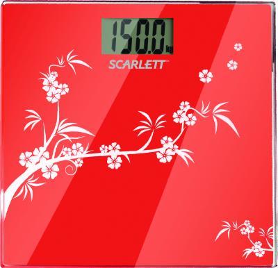 Напольные весы электронные Scarlett SC-218 (Red) - вид сверху