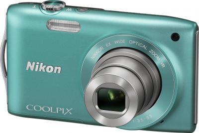Компактный фотоаппарат Nikon Coolpix S3300 Green - общий вид