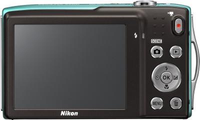 Компактный фотоаппарат Nikon Coolpix S3300 Green - вид сзади