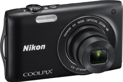 Компактный фотоаппарат Nikon Coolpix S3300 Black - общий вид