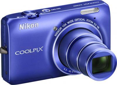 Компактный фотоаппарат Nikon Coolpix S6300 Blue (Blue) - общий вид