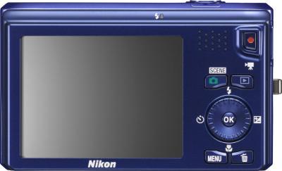 Компактный фотоаппарат Nikon Coolpix S6300 Blue (Blue) - вид сзади