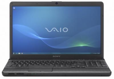 Ноутбук Sony VAIO VPCEH3M1R/B - спереди