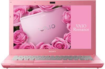 Ноутбук Sony VAIO VPCSB4M1R/P - фронтальный вид