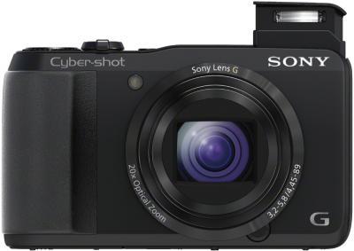 Компактный фотоаппарат Sony Cyber-shot DSC-HX20V (Black) - общий вид