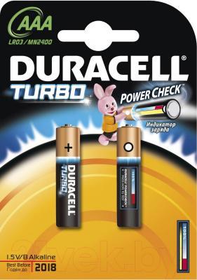 Батарейки ААА Duracell Turbo LR03/MN2400/AAA 2BP