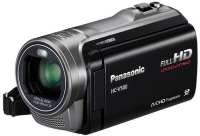 Видеокамера Panasonic HC-V500EE-K - с закрытой крышкой
