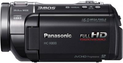 Видеокамера Panasonic HC-X800EE-K - вид сбоку
