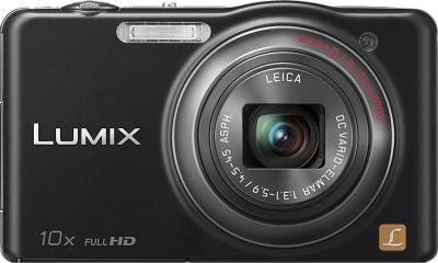 Компактный фотоаппарат Panasonic Lumix DMC-SZ7EE-K - вид спереди