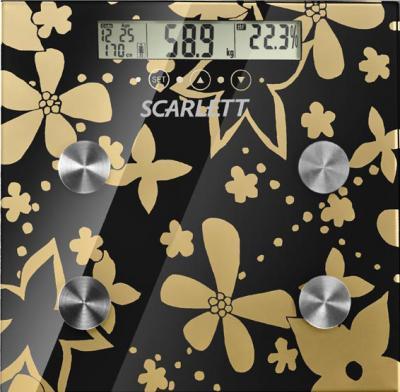 Напольные весы электронные Scarlett SC-216 Gold - вид сверху