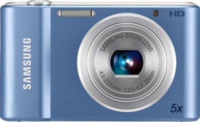 Компактный фотоаппарат Samsung ST66 (EC-ST66ZZBPURU) Blue - вид спереди