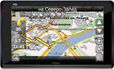 GPS навигатор Starway 5X new Навител Беларусь - вид спереди