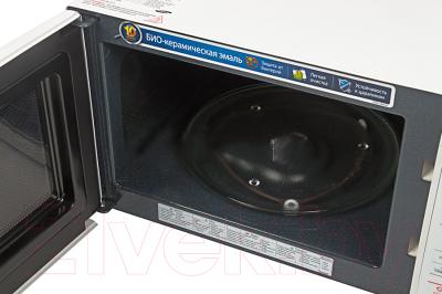 Микроволновая печь Samsung GE733KR-X - с открытой крышкой