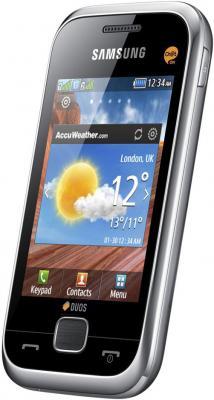 Мобильный телефон Samsung C3312 Duos Silver (GT-C3312 MSASER) - общий вид
