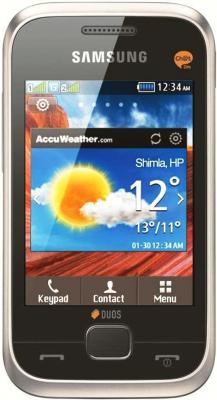 Мобильный телефон Samsung C3312 Duos Silver (GT-C3312 MSASER) - вид спереди