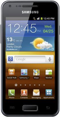 Смартфон Samsung i9070 Galaxy S Advance Black (GT-I9070 HKASER) - вид спереди