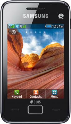 Мобильный телефон Samsung S5222 Star 3 Duos Black (GT-S5222 XKASER) - вид спереди
