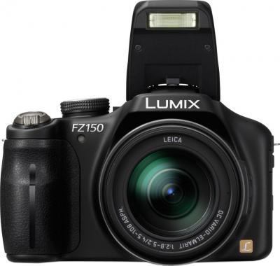 Компактный фотоаппарат Panasonic Lumix DMC-FZ150EE-K - вид спереди