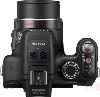 Компактный фотоаппарат Panasonic Lumix DMC-FZ150EE-K - вид сверху