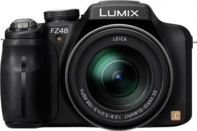 Компактный фотоаппарат Panasonic LUMIX DMC-FZ48EE-K - вид спереди