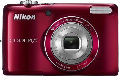 Компактный фотоаппарат Nikon Coolpix L26 Red - общий вид